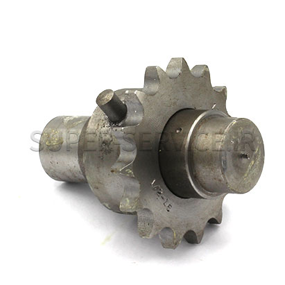 SHAFT WITH SUPPORT HOOK PINION S 27